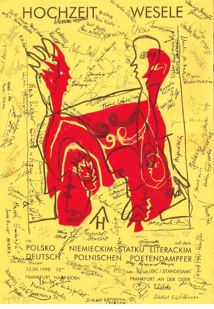 Poster zur Poetenhochzeit von Hans Häußler